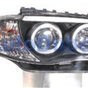 BMW 1 Series Тюнинг комплект линзованных фар в нутри черные 2003 фото