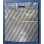 Пакет полиэтиленовый ПВД с прорубной ручкой высший сорт, 600х700 мм, 60 мкм фото