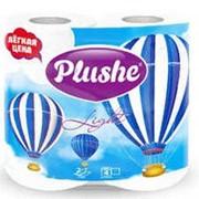 Т/бумага Plushe light белая 4 рулона по 15м, 2 слоя фото