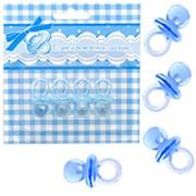 Фигурка декоративная Соска голубая 4см 4шт фото