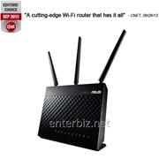 Беспроводной роутер Asus RT-AC68U (AC1900, 1*Wan, 4*LAN Gigabit, 1*USB3.0, 1*USB2.0, 3 антенны), код 61827 фото