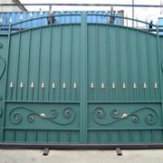 Металлические ворота для дома фото