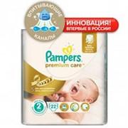 Подгузники PAMPERS премиум New Baby 2 (3-6 кг), 22 шт фото