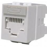 Розеточный модуль Keystone Module 1xRJ45 (WE8W), UTP, 568A/B, PowerCat 5e, White фото