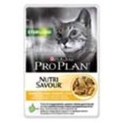 Корм для котов Pro Plan NutriSavour Sterilised паучи для кошек с курицей в соусе фото