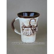 Чашка керамическая в украинском стиле фото