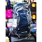 Туристический рюкзак XINHUASHUAI CAPACITY 60L серый с синими вставками фото