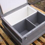 Ящик деревянный под заказ для упаковки промышленных комплектующих. Для тары использована специальная фурнитура. фото