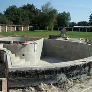 Строительство бассейна фото