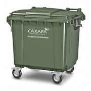 Пластиковый контейнер евро для ТБО фото