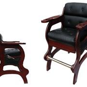 Кресло бильярдное (черный орех) фото