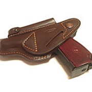 Кобура поясная коричневая для пистолета ПМ, ИЖ-71, ИЖ-79, МР-654 (натуральная кожа) фото