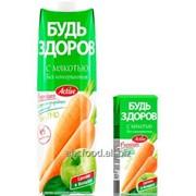 """Нектар с мякотью """"Будь здоров"""" яблочно-морковный, объем 1/0,2л фото"""