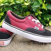 Кеды Vans Era черно-красные 35-45 , кроссовки, сникеры, шузы Код VanEr010 фото