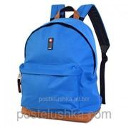 Рюкзак классика DERBY с карманом для ноутбука 14* Голубой фото