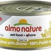 Almo Nature 70г Влажный корм для взрослых кошек Курица и сыр фото