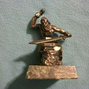 Статуэтка Старик Урал (бронза, змеевик) фото