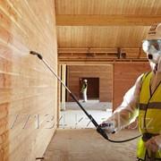 Обработка деревянных и металлических конструкций огнезащитными составами фото