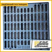 Дождеприемник чугунный с замком и резиновой прокладкой ВЧШГ 850x850x120 мм ГОСТ 3634-99 тип ДК, 45 кг, крышка 646 мм, нагрузка 25т фото