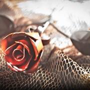 Кованая Роза 30 см фото
