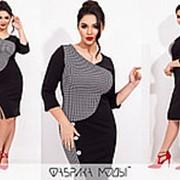 Приталенное платье женское (4 цвета) SD/-710 - Черный фото