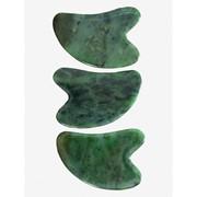 Скребок Гуаша из Саянского нефрита в форме большого сердца фото