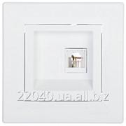 Розетка телефонная 2xRJ11 кремовая Asfora EPH4200123 фото