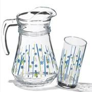 Набор: кувшин, стаканы, чашки Blue bamboo / Голубой бамбук, Наборы столовые Pasabahce фото