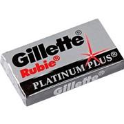 Сменные лезвия для безопасных бритв Gillette RUBIE Platinum Plus,5шт.в упаковке. фото