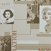 Новая коллекция виниловых обоев В43,4 Коллекция Expromt Голливуд С793-01 фото