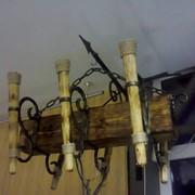 Светильники деревянные фото