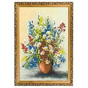 """Картина """"Полевые цветы"""" багет дерево гипс 46х66 см фото"""