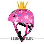 Детский шлем GSB XS-XL ( 51-58 см ) с короной розовый фото