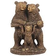 Скульптура Семья / Медведь медведица и медвежонок 32х46х25см. арт.МК1106 фото