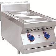 Плита электрическая ЭПК-27Н двухконфорочная без жарочного шкафа (полностью нерж, серия 700) фото