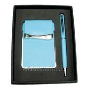 Подарочный набор: визитница, ручка шариковая фото
