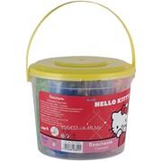 Пластилин мягкий 7цв500гр в пластиковом ведерке Hello Kitty 22598 фото
