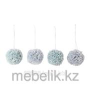 Украшение подвесное, шар, различн оттенки синего ВИНТЕР фото