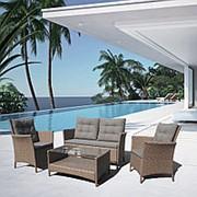 Плетеный комплект для отдыха с диваном AFM-804 Beige фото