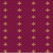 Ковролан (ковролин) Aquarelle красный с лилиями фото