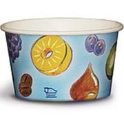Чаши бумажные под мороженое, супы, салаты 500мл. дизайн мороженое16oz (500шт) фото