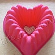Кекс сердце полое фото