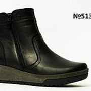 Женские зимние кожаные ботинки на широкую ножку, р-ры 37-42 фото