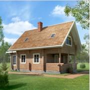 Дом из оцилиндрованного или клееного бруса, площадь 87 кв.м. фото