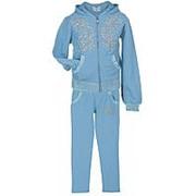 Модный спортивный костюм для девочки голубого цвета 22 фото