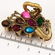 Краб (5 см.) бронзовый с цветными камнями 213276(45) фото