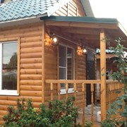 Баня деревянно-каркасная 4х5 м фото