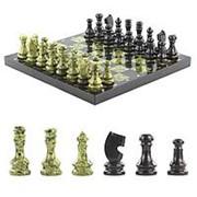 Шахматы из змеевика 38х38 см фото