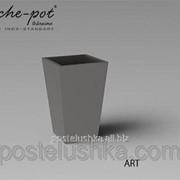 Кашпо из нержавеющей стали Art, поверхность зеркальная, с внутренним контейнером 44x44x75 см фото