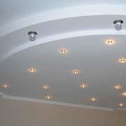 Монтаж потолков из гипсокартона фото